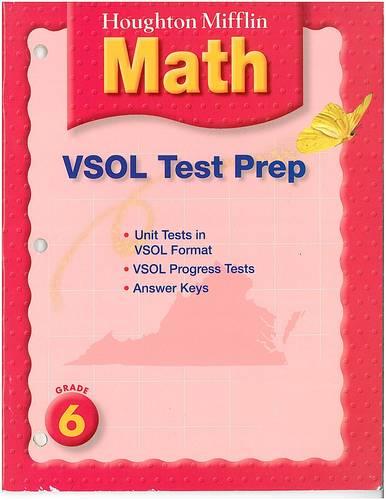 Houghton Mifflin Mathmatics Virginia: Test Preperation Blackline Master Answer Key Level 6 PDF