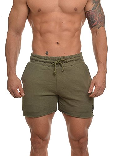 YoungLA Men's French Terry Solid Bodybuilding Gym