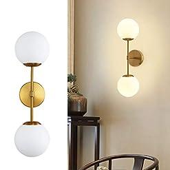 Interior Lighting Modern Glass Ball Wall Light, Mid Century Wall Lamp Magic Bean Globe Wall Sconces for Restaurant Living Room Bedside… modern wall sconces