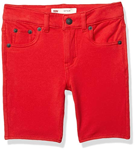 Levi's Boys' Big Soft Knit Jogger Shorts, Chinese red, XL ()