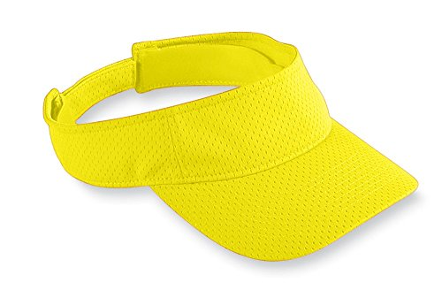 Augusta Sportswear Athletic Mesh Visor, Power Yellow, One Size