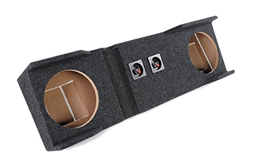 "Bbox A162-10CP Dual 10"" Sealed Carpeted Subwoofer Enclosure - Fits 1999 - 2006 Chevrolet / GMC 1500/2500/3500HD Crew Cab"