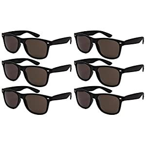 Edge I-Wear 6 Pack Party Sunglasses with Spring Hinge 5401ASBLK-SD-6M (MBLK.sd)