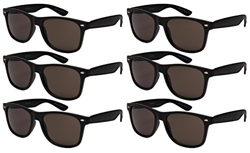 Edge I-Wear 6 Pack Party Sunglasses with Spring Hinge 5401ASBLK-SD-6M - 6 Pack Sunglasses