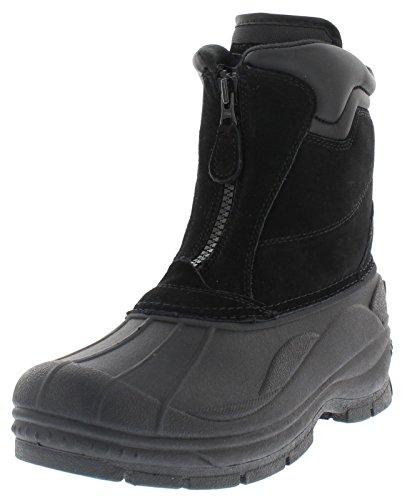 Weatherproof Trek Zip Up Waterproof Snow Boots for Men   Thermolite, Suede Ankle High Winter Boots