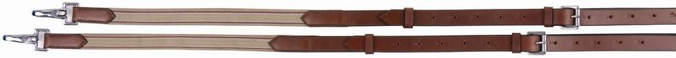 Henri de Rivel Side Reins Leather with Elastic Insert