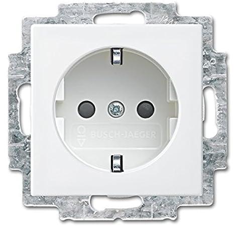 Busch-Jaeger 1725-0-1562 interruptor y marco para enchufes Color blanco, Universal, Screwless interruptores y marcos para enchufes