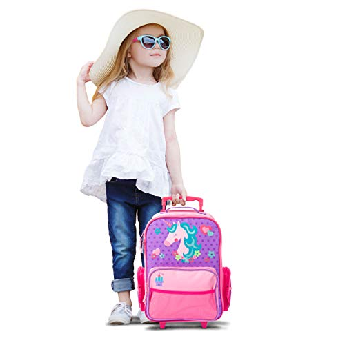 Stephen Joseph Girls' Little Classic Rolling Luggage, Unicorn, One Size