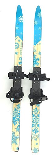 sporten Second Step Kids Junior 110cm XC Nordic Skis with Universal Snow Boot Bindings