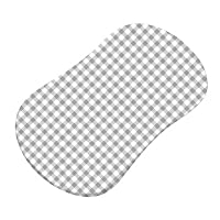 SheetWorld Fitted Bassinet Sheet (Fits Halo Bassinet Swivel Sleeper) - Grey Gingham Jersey Knit - Made In USA