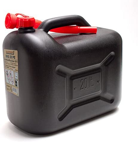 Bauprofi 6er Set 6x Benzinkanister Kks 20 Pe Schwarz 20 Liter Kraftstoffkanister 20l Auto