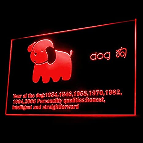 e3e2f1298 150008 Chinese Zodiac Dog Race Fortune Month Display LED Light Sign - -  Amazon.com