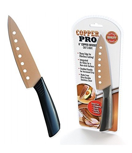 Copper Pro 6 Inch Copper Infused Chefs Knife