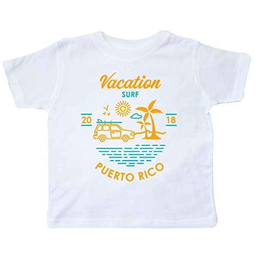 inktastic - 2018 Vacation Surf Puerto Rico Toddler T-Shirt 2T White 30a58