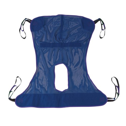 Drive Medical Full Body Patient Lift Sling, Mesh with Commode Cutout,