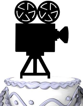 MEIJIAFEI MOVIE CAMERA CAKE TOPPER ACRYLIC CAKE TOPPER DECORATION
