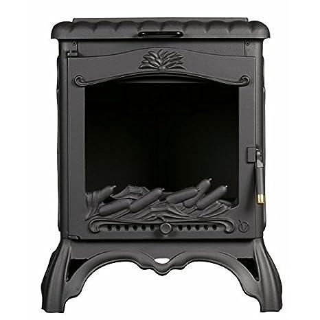Estufa de hierro fundido Rubi de leña con horno: Amazon.es ...
