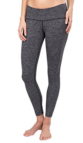 - Tuff Athletics Women's Active Supplex Yoga Legging with 40+ Sun Protection (Small, Black End on End)