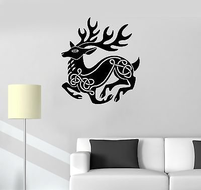 Vinyl Decal Celtic Pattern Deer Animal Irish Art Ireland Wall Stickers VS259