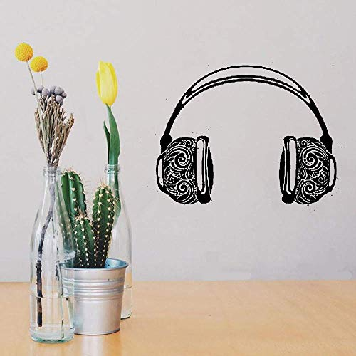 Atuai Motivational Wall Sticker Quotes Music Headphones Ornament for Teen's Bedroom or Music Concerts Hall