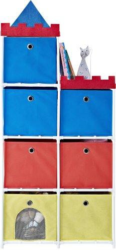 Birch Youth Dresser - Altra Furniture 7-Bin Kids Storage Unit with Castle Theme