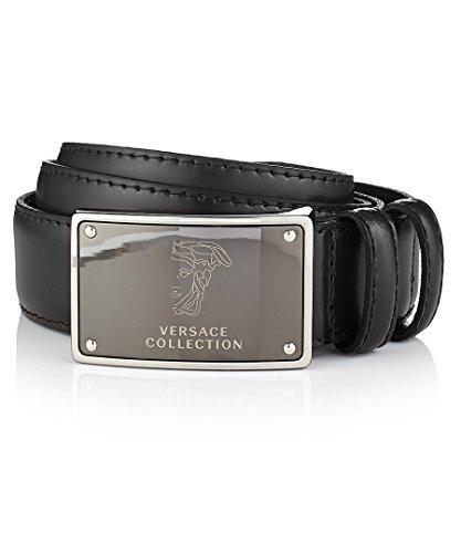 (Versace Collection Men's Leather Belt (38us / 100eu, Black))