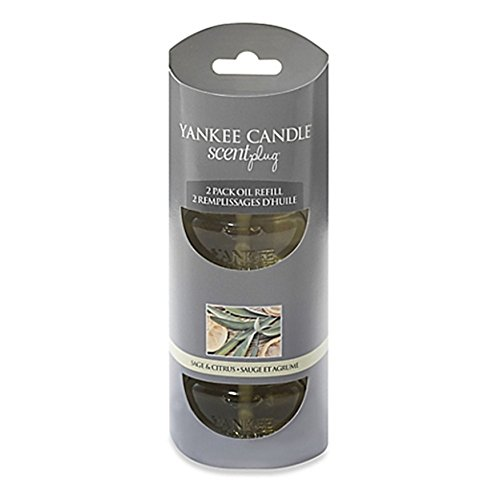 Citrus Home Fragrance - Yankee Candle Sage and Citrus Electric Home Fragrancer 2 Pack oil refill