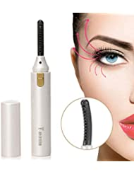 Heated Eyelash Curler,Mini Electric Eyelash Curler Brush...