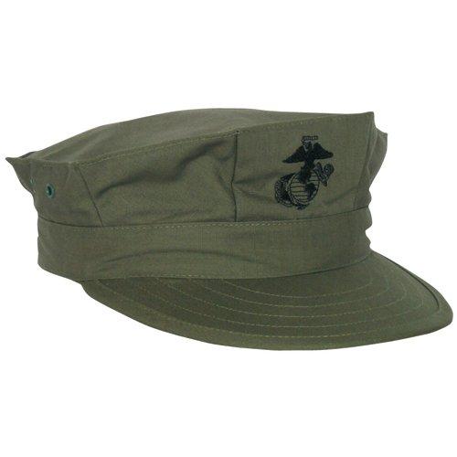 Marine Cap, Olive Drab Emblem, X-Small (Emblem Olive Drab)