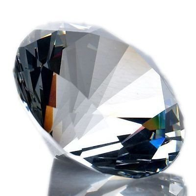 (100 mm Cut Glass Crystal Giant Diamond Jewel Paperweight)
