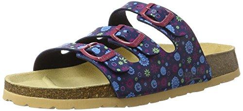 Superfit Mädchen Fussbettpantoffel Pantoffeln Blau (Ocean Kombi)