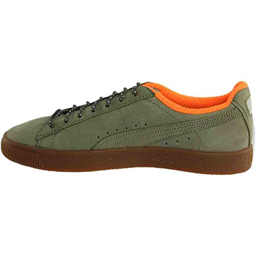Puma Heren Clyde Winter Enkelhoge Fashion Sneaker Olijf / Kaki-oranje