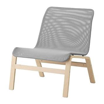 Ikea NOLMYRA Sessel in Grau; aus Birkenfunier: Amazon.de: Küche ...