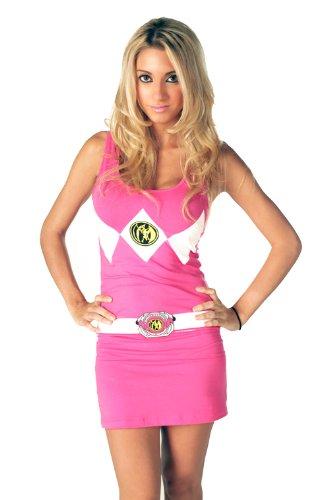 Power Rangers Pink Ranger Tank Dress (Junior - XSmall) -