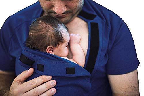 - DadWare Bamboo Bondaroo Skin to Skin Kangaroo Care Bonding T-Shirt Navy Blue