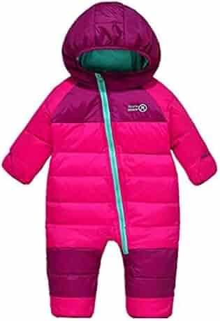 edbff110b3478 Digirlsor Baby Snowsuit Toddler Boy Girl Down Romper Jumpsuit Winter Hooded  Puffer Jacket Pram Suit,