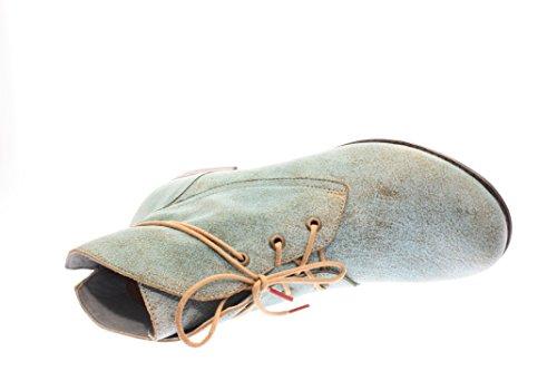 Mujeres Zapatos con cordones lagune kombi turquesa, (lagune kombi) 6-86015-88