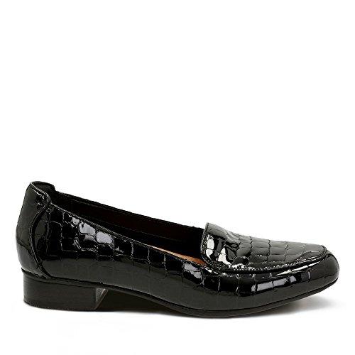 Cuir Femme Habillé Keesha Clarks Taille 41½ Noir Luca en Chaussures Enduit S7YAqxBn