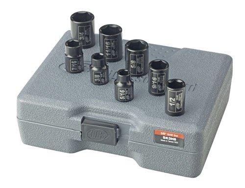 Ingersoll Rand SK3H8 3/8-Inch Drive 8-Piece SAE Standard Impact Socket Set