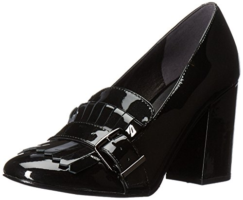 Patent Ballerina Pumps (Kenneth Cole New York Women's Cambrie Dress Kiltie Toe Patent Slide Pump, Black, 8.5 M US)