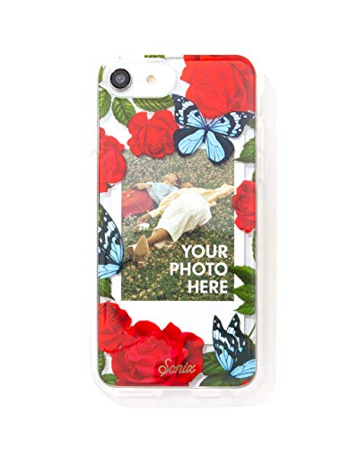 Sonix Butterfly Photo Frame Cell Phone Case [Military Drop Test Certified] Protective Clear Polaroid Picture Case Series for Apple iPhone 6, iPhone 7, iPhone 8