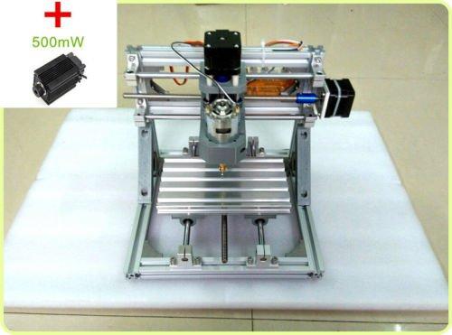CNC Milling Machines , TOPCHANCES CNC Mini 3 Axis 7000r/min with 500mW Laser Head Engraving Machine PCB Milling Wood Carving Milling Engraving Machine