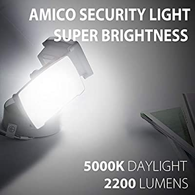 Amico Led Security Lights 2 Head Controlled by Switch