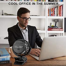 aXXcssqw9b Mini USB Summer Cooling Air Fan,360 Degrees Rotatable Car Desktop,with Clip