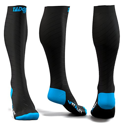 Compression Socks for Men & Women (20-30 mmhg) - Best Graduated Pressure Stocking, Support Circulation Socks | Athletic Fit For Running, Nurses, Shin Splints, Maternity Pregnancy, Flight Travel