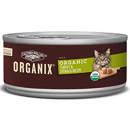 Castor & Pollux Organix Turkey And Spinach Adult Cat Food, 5.5 Ounce Cans (Pack Of 24)