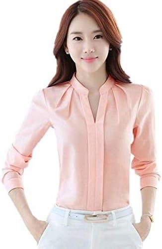 Tishani Women Blouse Sleeve Office Lady Shirt Women Tops