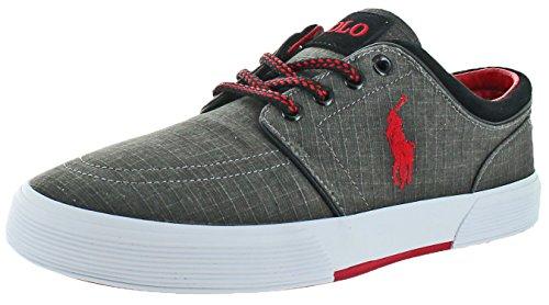 Polo Ralph Lauren Faxon Basse Scarpe Da Barca Da Uomo Sneakers Nere Taglia 11.5