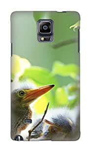 Galaxy Note 4 Animal Bird Print High Quality Tpu Gel Frame Case Cover For New Year's Day