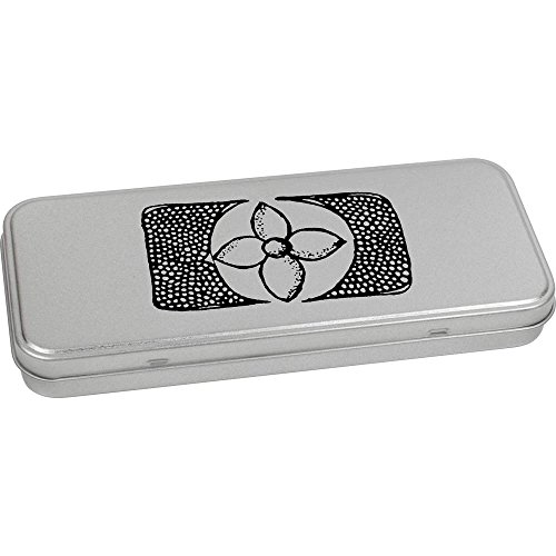 Azeeda 'Decorative Rectangle' Metal Hinged Stationery Tin / Storage Box (TT00019533) by Azeeda